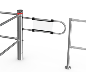 Motorised swing turnstile